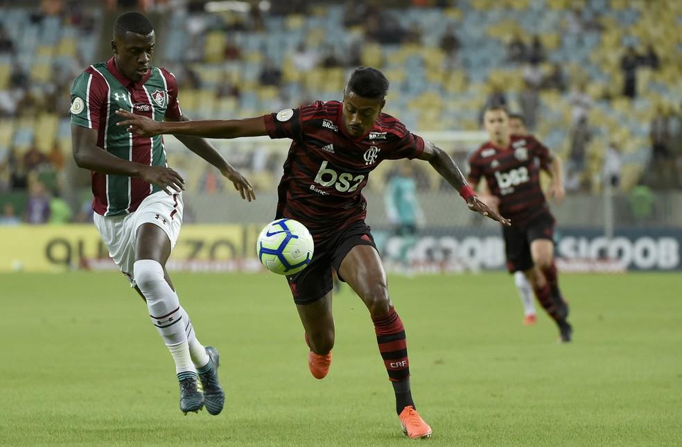 Bruno Henrique em Fluminense x Flamengo â?? Foto: Agência Estado