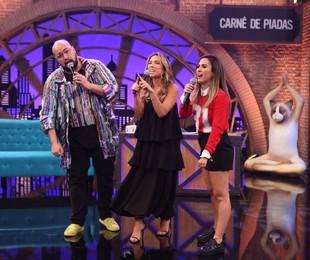 Tatá Werneck com Tiago e Patricia Abravanel | Gianne Carvalho/Multishow
