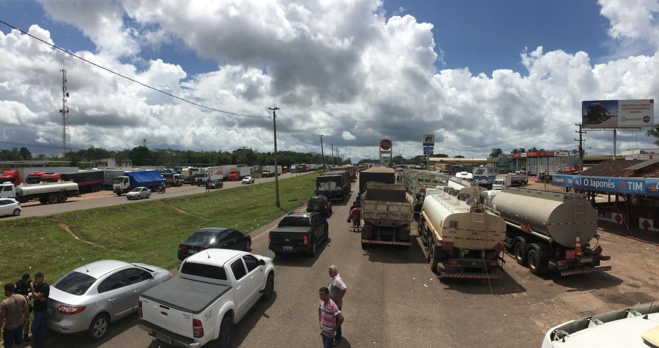 Pará segue com várias interdições em rodovias federais na noite desta quarta-feira