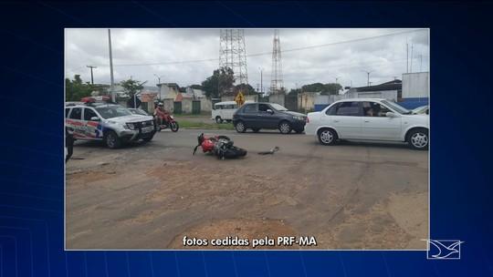 Quatro pessoas ficam feridas em três acidentes nas rodovias federais do Maranhão