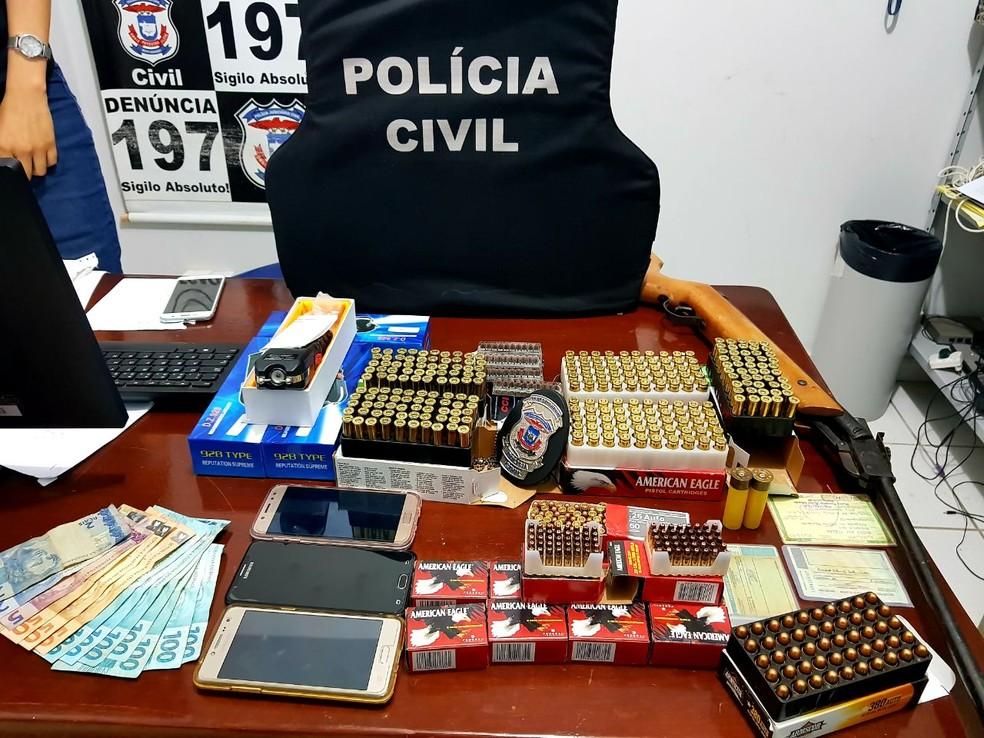 Munições eram revendidas na região de Jaciara (Foto: Polícia Civil-MT/ Divulgação)