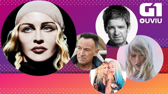 Madonna faz gostoso com Anitta, Bruce Springsteen faz disco cru e Taylor Swift faz hino no G1 Ouviu