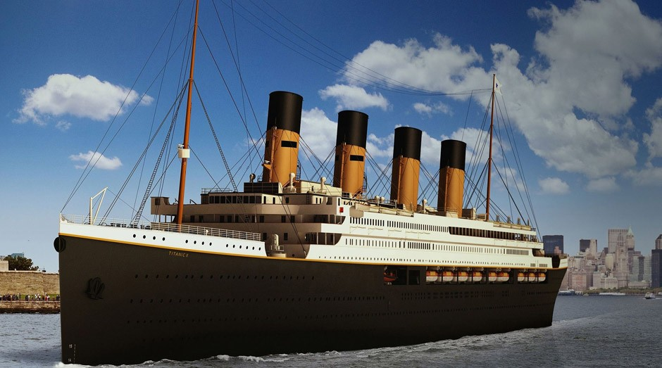 Réplica do Titanic fará mesmo trajeto do navio original (Foto: Wikimedia Commons)