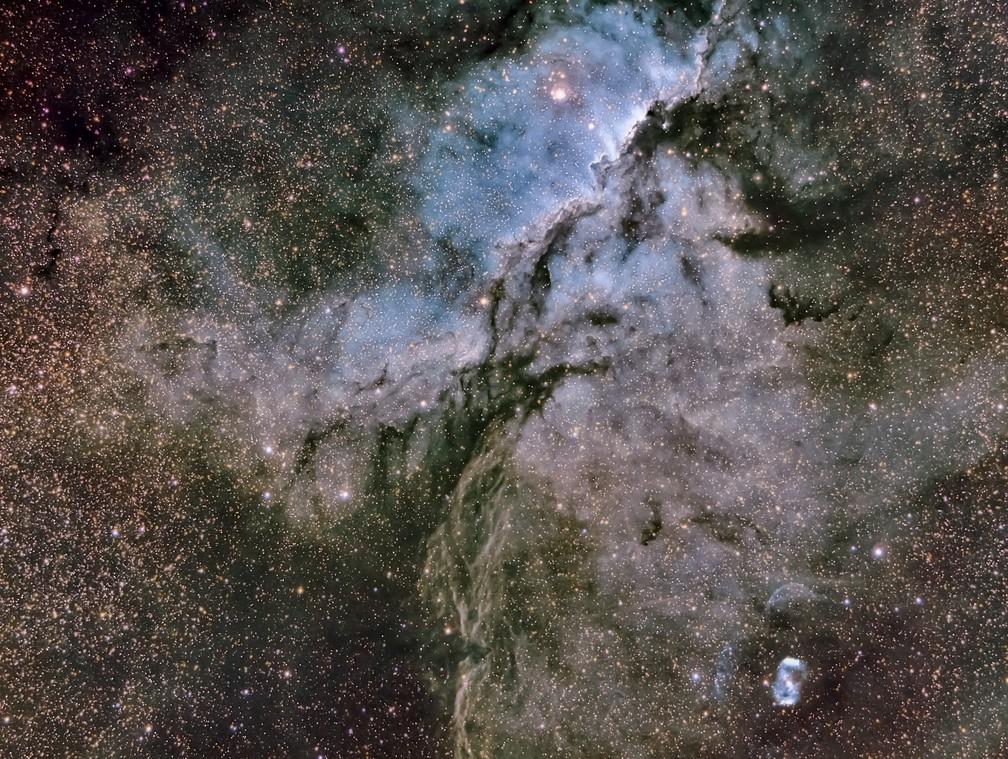 Exposição em Cuiabá reúne fotografias da lua, galáxia, estrelas e nebulosas — Foto: Pablo Solorzano