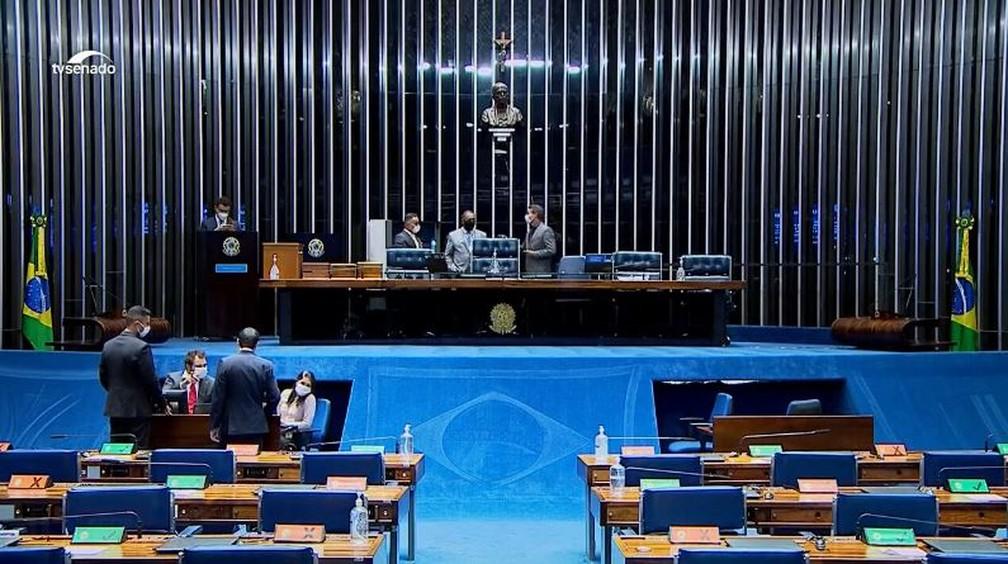 Senado — Foto: Reprodução/TV Senado