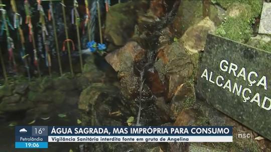 Vigilância Sanitária diz que água da fonte em gruta de SC, considerada sagrada por católicos, está imprópria