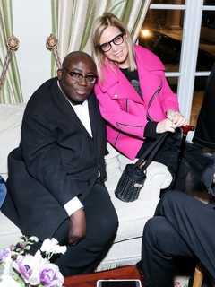 Edward Enninful e Ronnie Cooke Newhouse