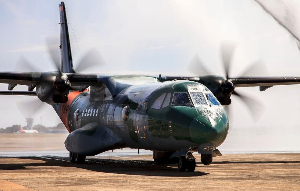 Aeronave que tem eletro-óptico de busca por imagem é usado pela FAB nas buscas.  — Foto: Cb Feitosa/Força Aérea Brasileira
