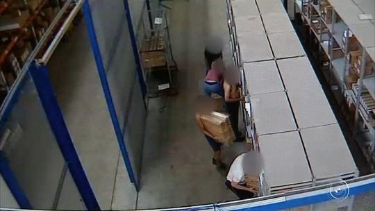 Câmeras de empresa registram roubo de carga milionária em Jundiaí; vídeo