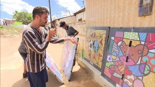 Carlinhos Maia personaliza vila com obras de Romero Britto