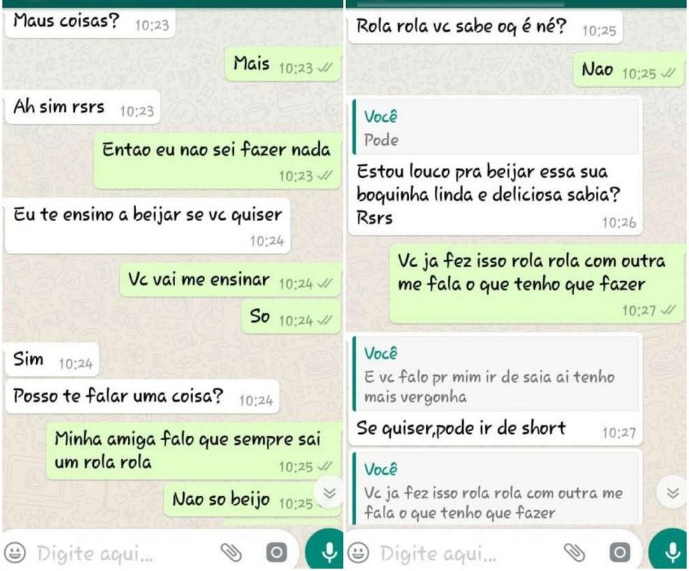Rapaz preso em Marília mandou mensagem dizendo que ensinaria menina de 11 anos a beijar (Foto: Reprodução)