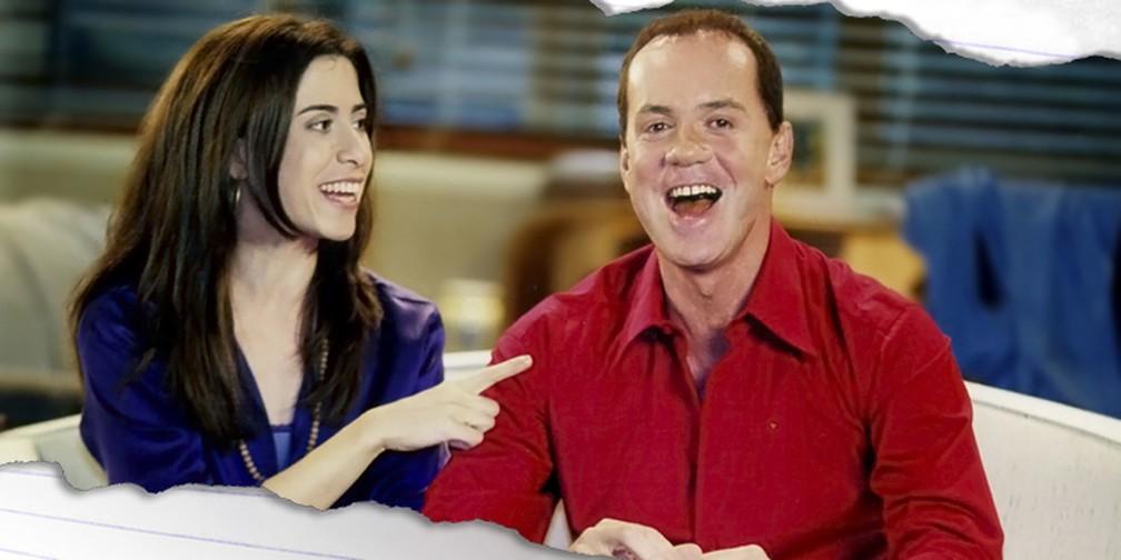 Fernanda Torres e Luiz Fernando Guimarães em 'Os Normais', que estreou em 2001 — Foto: Memória Globo
