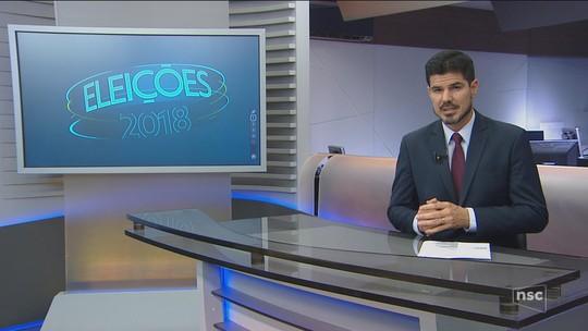 Veja a agenda dos candidatos ao governo de SC nesta segunda-feira (20)