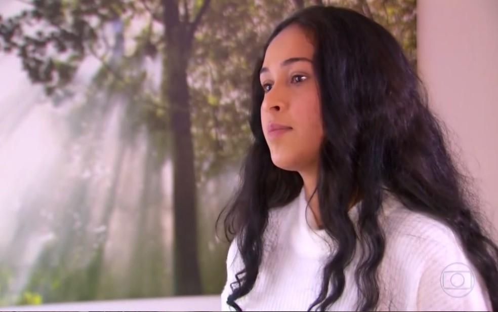 Engenheira Gleice Lima, que contou ter sido abusada por João de Deus — Foto: Reprodução/TV Globo