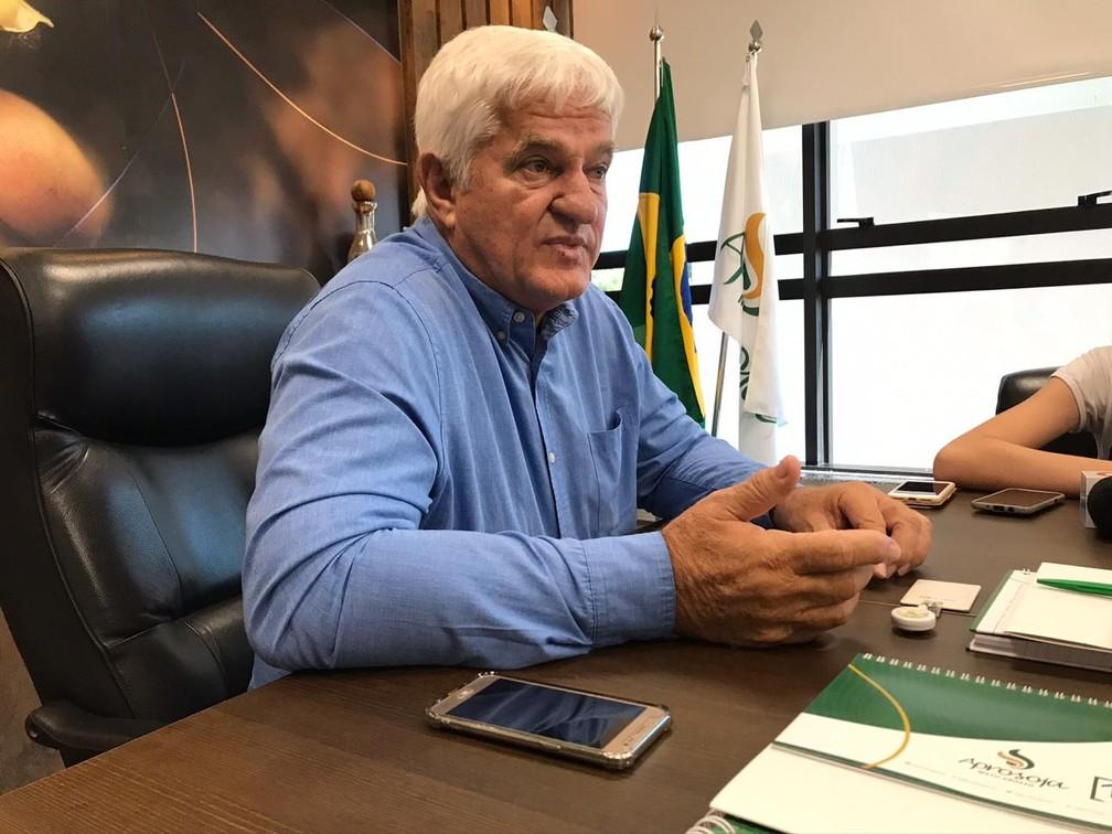 Antônio Galvan, presidente da Aprosoja-MT — Foto: Nathalia Okde/G1