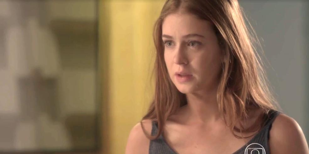 Eliza pede que Jonatas a deixe em paz — Foto: TV Globo