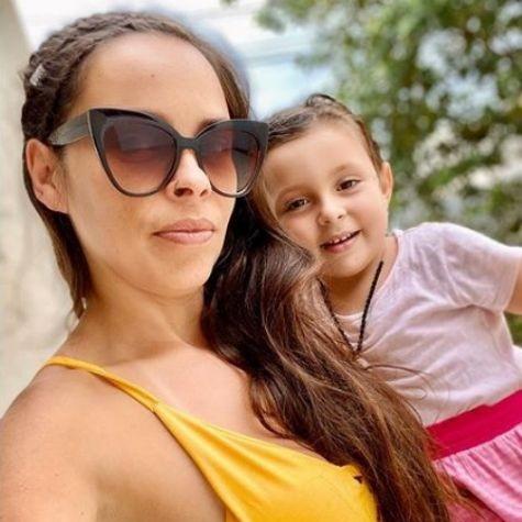 Gisele Frade com a filha caçula, Nina Rosa (Foto: Reprodução)