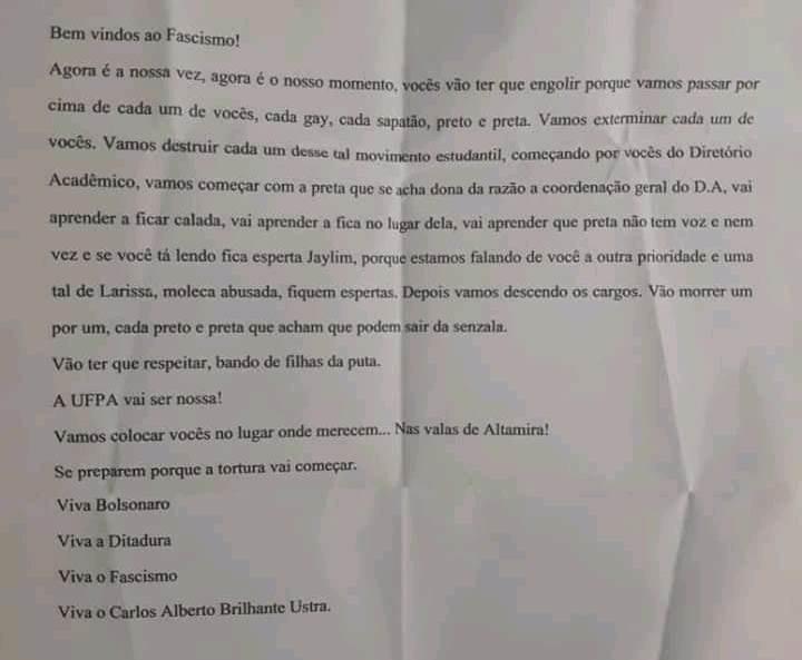 UFPA pede que Polícia Federal investigue ameaças feitas a estudantes em Altamira - Radio Evangelho Gospel