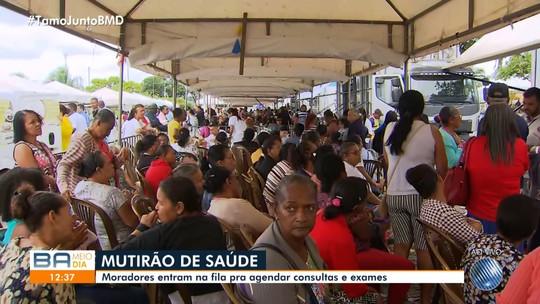 Mutirão de saúde atrai multidão em Dias D'Ávila, na RMS