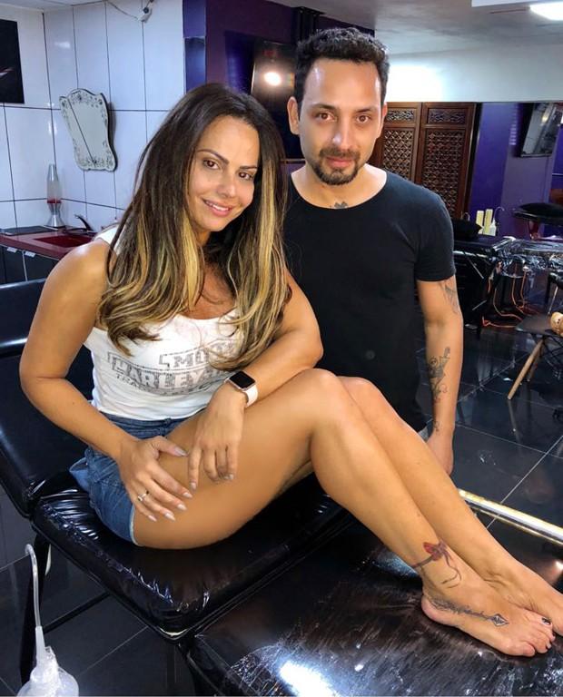 Viviane Araújo após substituir a tatuagem antiga (Foto: Reprodução/Instagram)