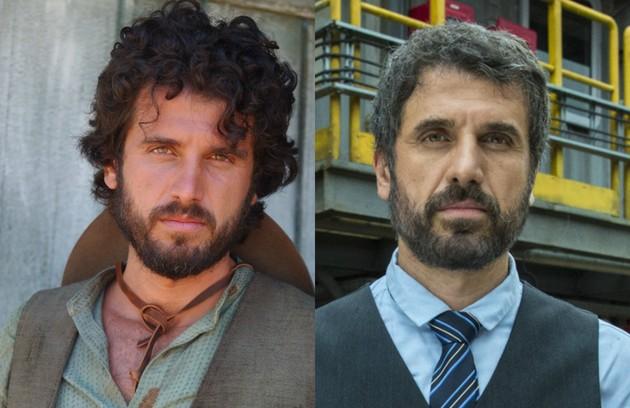 Eriberto Leão, que disputará a próxima edição do 'PopStar', foi Tomé, homem simples do campo apaixonado por Rosa (Vanessa Gerbelli) (Foto: Globo)