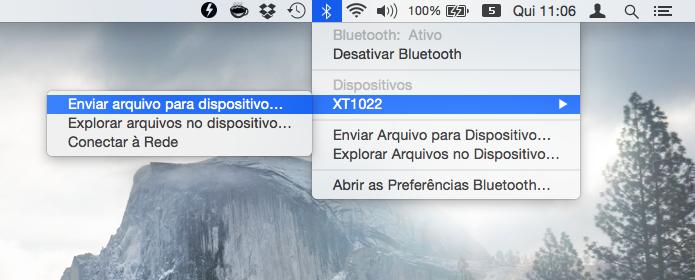 Compartilhando arquivos no Mac (Foto: Reprodução/Helito Bijora)