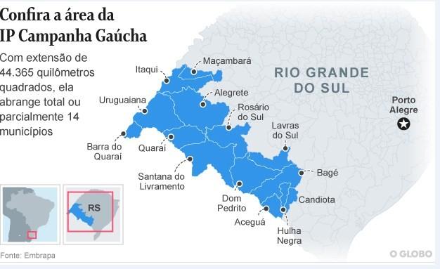 Mapa da Campanha Gaúcha
