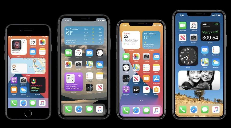 Com nova visualização, será possível exibir informações de aplicativos junto de apps. — Foto: Reprodução/Apple