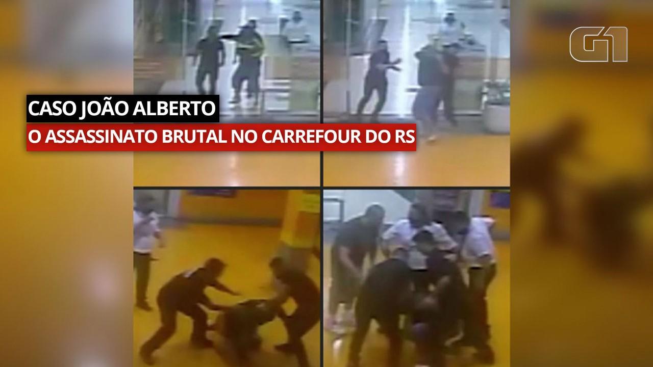 Câmera de segurança mostra início da confusão antes do assassinato brutal de João Alberto