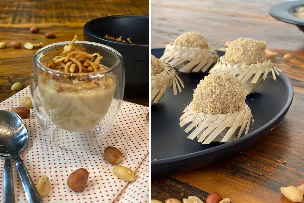 Brigadeiro de amendoim e paçoca cremosa são delícias juninas que podem ser feitas em casa; vídeo