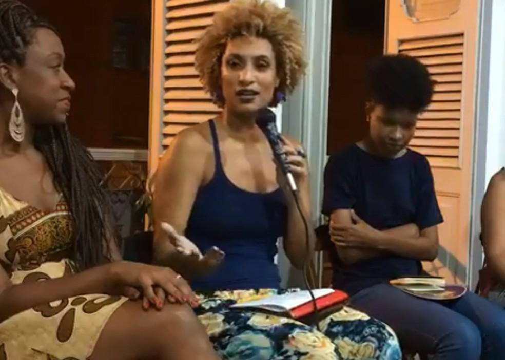 Marielle participou de um evento na Lapa antes do assassinato (Foto: Reprodução/Facebook)