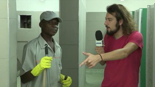 Cartolouco mostra os bastidores do Maracanã: vendedor, roupeiro, faxineiro, locutor...