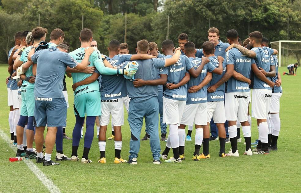 Time sub-23 do Grêmio, o grupo de transição, deve começar o Gauchão — Foto: Rodrigo Fatturi/Grêmio.
