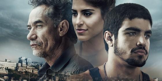 Chico Diaz, Camilla Camargo e Caio Castro estrelam o longa Travessia, que estreia dia 23 de março nos cinemas (Foto: Reprodução)