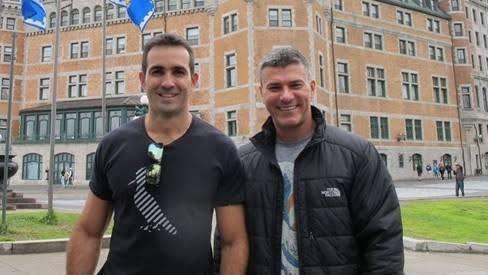 Leonardo Vieira e o marido, Leandro Fonseca (Foto: Reprodução)