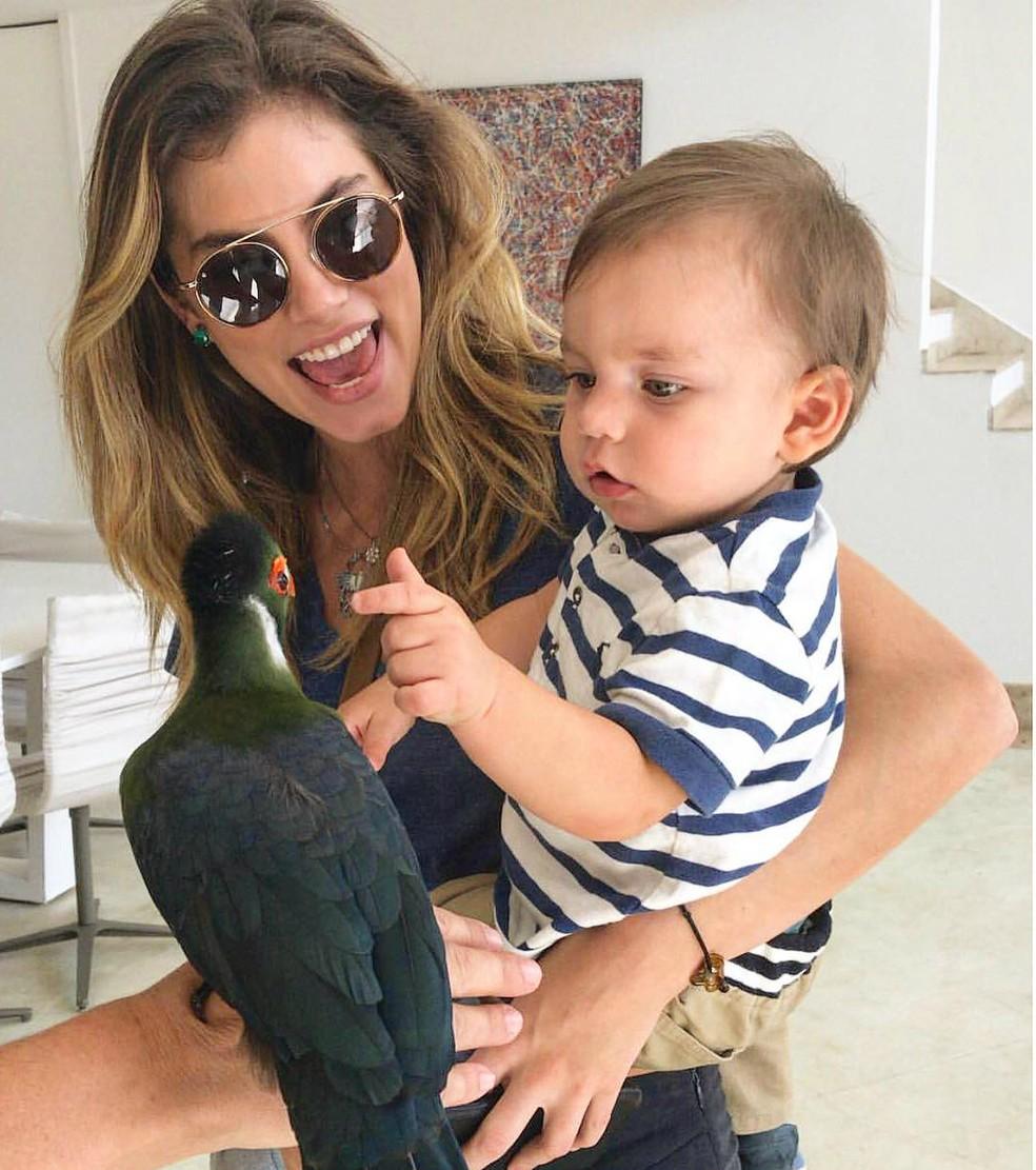 Bruna Hamú e o filho Júlio de dois anos! — Foto: Arquivo Pessoal