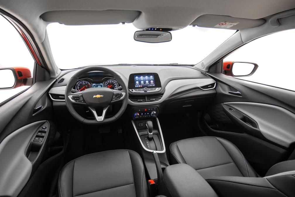 Interior do Chevrolet Onix 2020 Premier — Foto: Chevrolet/Divulgação