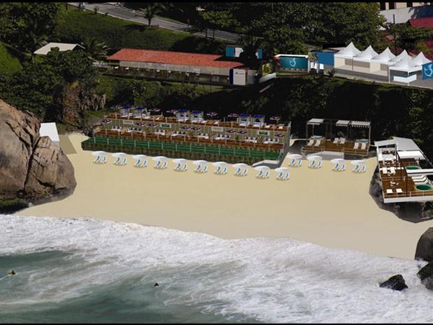 Projeto de clube VIP que funcionará dentro do Forte de Copacabana  (Foto: (Divulgação))