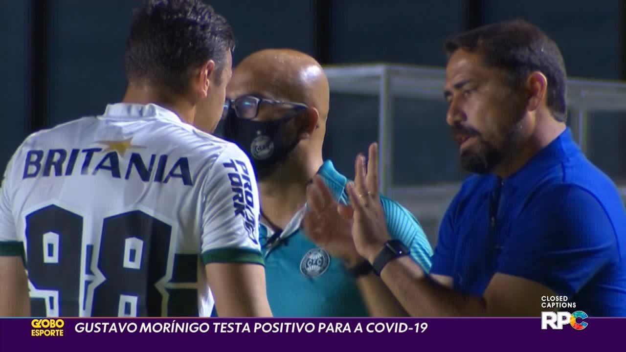 Técnico do Coritiba, Gustavo Morínigo, é diagnosticado com a Covid-19