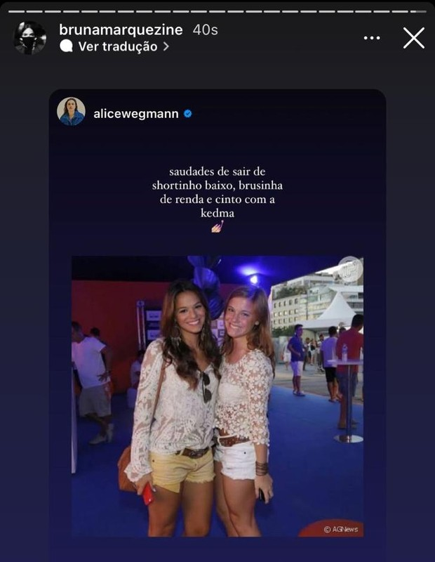 Bruna Marquezine ganha homenagens de aniversário (Foto: Reprodução/Instagram)