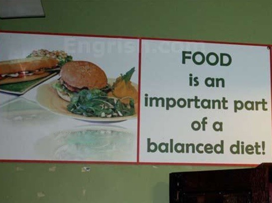 'Alimento é uma importante parte de uma dieta balanceada'