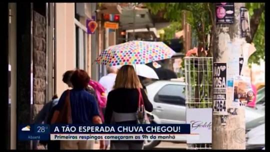 Chuva é registrada em Divinópolis após três meses de estiagem