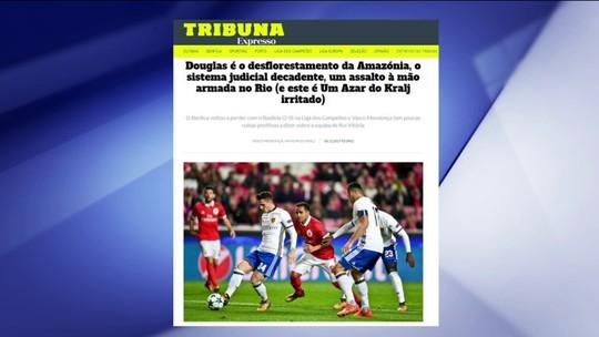 """Jornal português compara lateral Douglas com """"desflorestamento da Amazônia"""""""