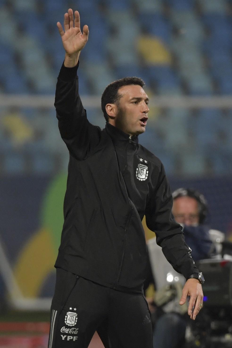 Lionel Scaloni, técnico da Argentina — Foto: Divulgação/Conmebol