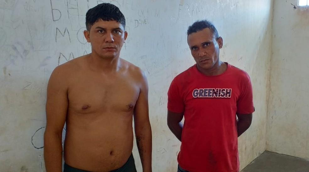 Raimundo Nonato Lopes Souza e Rogério Rodrigues Araújo foram presos e autuados pelo crime de tráfico de drogas — Foto: Divulgação/Polícia