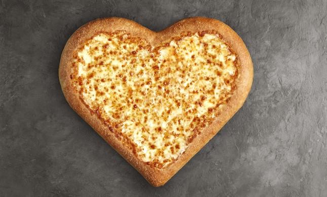 Pizza Hut: muçarela no formato de coração