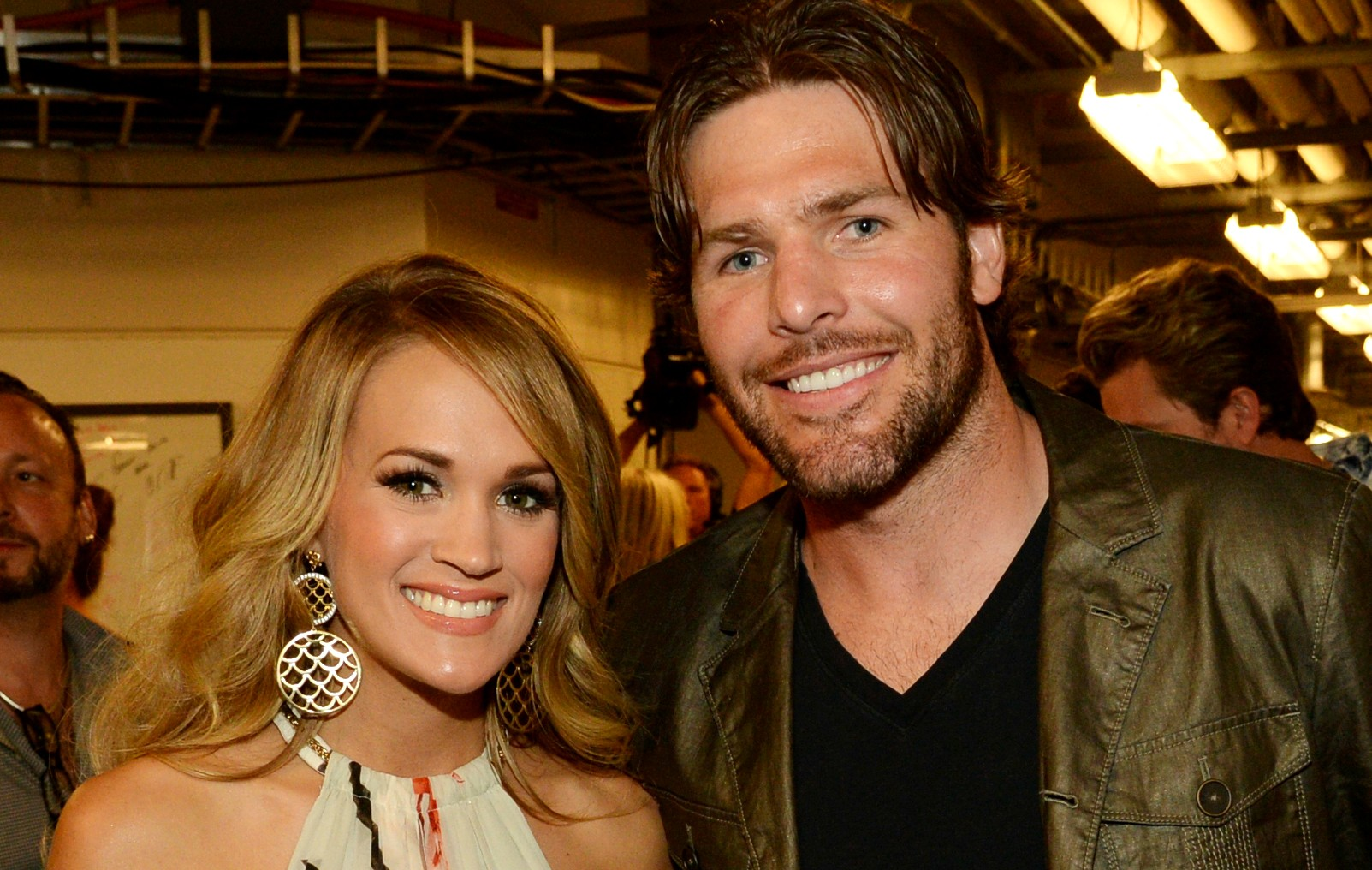 Carrie Underwood e Mike Fisher em junho deste ano. (Foto: Getty Images)
