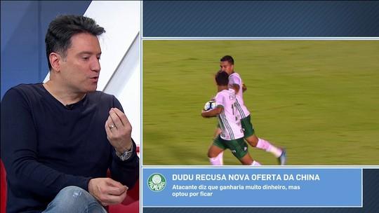 """""""Dudu permanecer no Palmeiras mostra o poderio do clube"""", afirma Abel Neto"""