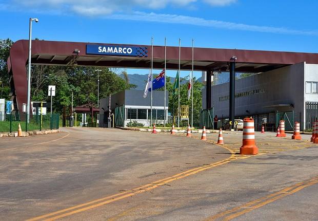Portaria de uma das unidades da mineradora Samarco (Foto: Reprodução/YouTube)