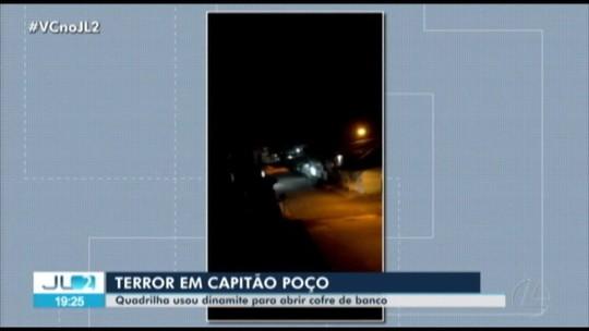Criminosos atacam agências bancárias e aterrorizam moradores em Capitão Poço